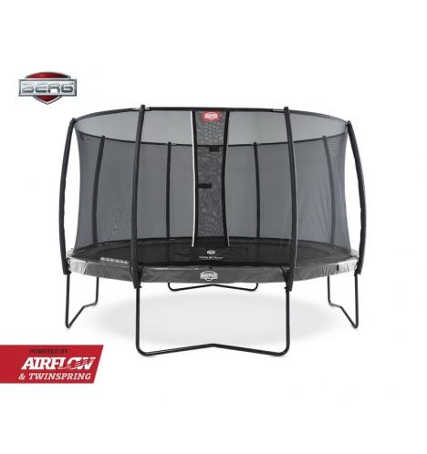 Image of   BERG Elite 380 grå inkl Deluxe sikkerhedsnet