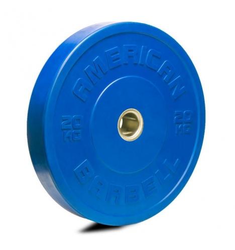 Image of   American Barbell 20 kg Farvet Bumper Vægtskive