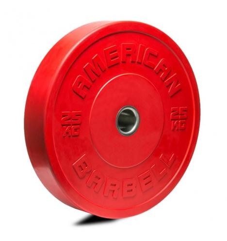 Image of   American Barbell 25 kg Farvet Bumper Vægtskive